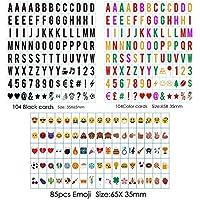 Freeas 293 Emojis, símbolos, letras y números para caja de mensaje LED de tamaño A4 Caja de luz cinemática