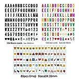 Freeas Klein-Buchstaben Set A4 Lichtbox - 293 schwarze Plättchen Buchstaben Zahlen Symbole Ergänzungsset - LED Lightbox Leuchtkasten Erweiterung