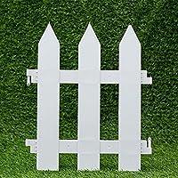 ieve 4 pcs Color blanco Plástico valla árbol de Navidad boda fiesta de Navidad en miniatura casa jardín (uno) es 100 cm en total)