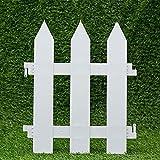 IEVE 4 STÜCKE Flexible Garten Rasen Gras Kanten Streik Grenze Panel Kunststoff Mauer Zaun Hochzeit Dekoration Miniatur Hausgarten (Eine packung ist 100 cm insgesamt)