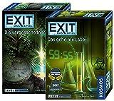 Exit Kosmos Spiele 692858 Spiel: Die vergessene Insel + Kosmos Spiele 692742 Spiel: Das geheime Labor; 2 Escape Room Spiele für Zuhause, Level Fortgeschrittene