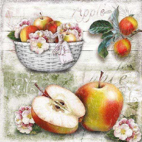 Ambiente Papierservietten - Servietten Cocktail / Party 25x25cm Herbst - Autumn - Apple Basket - Halloween- Ideal Als Geschenk Und Tisch-Deko
