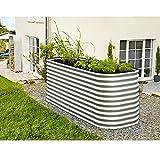 Vitavia Gewächshäuser Hochbeet Basic Plus aus Zincalume® 1,8 m² Aluminium-Blank 0,82 x 2,42 x 0,86 m