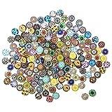 SuperHandwerk Tessere Mosaico Adesivi di Vetro Tessere Mosaico Colorato per Decorazione Fai da Te Materiale per attività Creativa