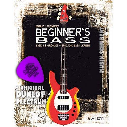 Beginner's Bass (+CD) inkl. Plektrum: Basics & Grooves - spielend Bass lernen. Enthält viele Songs, Licks & Riffs von Lenny Kravitz bis Queen und von Nelly Furtado bis Coldplay (Taschenbuch). von Manuel Steinhoff (Noten/Sheetmusic)
