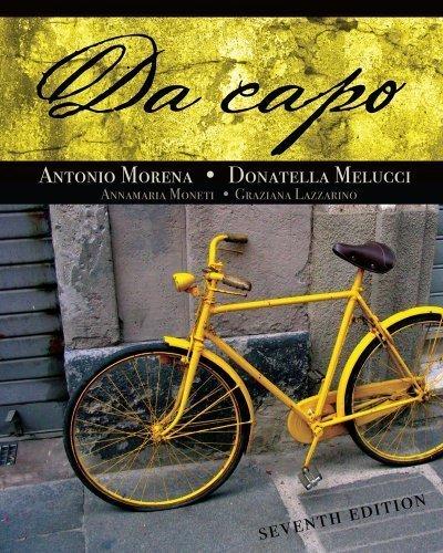 Bundle: Da Capo, 7th + Premium Web Site 3-Semester Printed Access Card by Antonio Morena (2010-01-15)