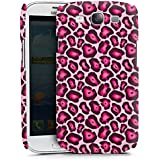 Samsung Galaxy S3 Hülle Premium Case Cover Leo Pink Animal Print