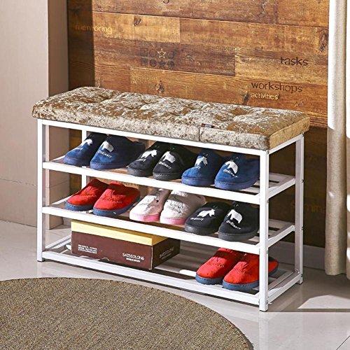 Nclon 100% Metal Eisen Changing Shoes hocker,Storage Schuhe hocker Gehäuse Schuhregal Schuhkarton...