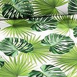Stoff Dekostoff Digitaldruck Palmblätter grün - Meterware