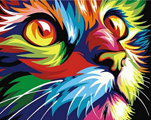 Photo sans cadre Cat DIY Peinture par numéro moderne Décoration murale Tableau Peint à la main Home Decor Art unframed chat