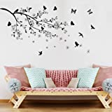 Ramas Pájaros Mariposa Pegatinas De Pared Vinilo Diy Tatuajes De Pared Para Sala De Estar Dormitorio Niños Habitación Decorac