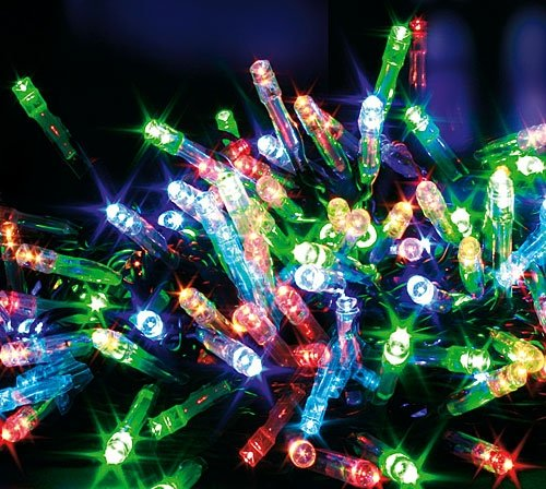 200 Multi-Coloured multi-effect Superbright LED lights indoor/outdoor for christmas tree decoration or outdoor home garden lighting effects