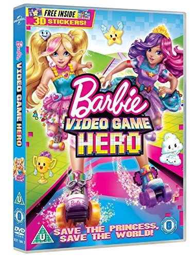 Image of Barbie Video Game Hero (includes free 3D stickers) [DVD] [2017]