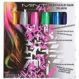 Haare Kreide - Metallic Glitter temporäre Haarfarben - Randkreide - kein Durcheinander - in Dichtstoff gebaut - Arbeiten auf allen Haarfarben - Farbe Essentials Set (6 Farben) plus Einweg-Handschuhen & Einweg-Umhange Von SySrion