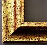 Bilderrahmen Acta Goldmaser 6,7 - Über 100 Größen - 4 Ausstattungsvarianten - Wechselrahmen mit Museumsglas (UV-Schutz 45% - entspiegelt) - 80 x 100 cm - Antik, Barock