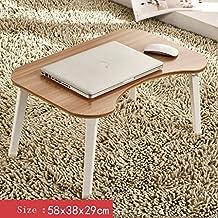 Escritorio de la computadora portátil, escritorio portátil del estudio plegable, escritorio de madera del cuaderno, escritorio simple de la computadora, para la cama o el sofá Mesa plegable ( Color : E )
