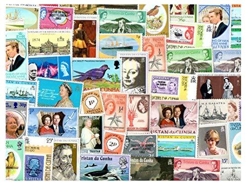 Tristan da cunha 500 francobolli differenti collezione per collezionisti