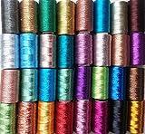 30Gewinde Spulen Maschine Stickerei Metallic, 30unterschiedlichen Farbe je 400Yards, hochwertige Qualität