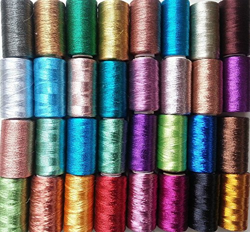 30Gewinde Spulen Maschine Stickerei Metallic, 30unterschiedlichen Farbe je 400Yards, hochwertige Qualität -