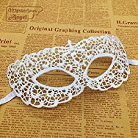 Tocoss(TM) Blanco Zorro m¨¢scara de partido del cord¨®n atractivo de la m¨¢scara de la mascarada de la m¨¢scara de carnaval veneciano vestido