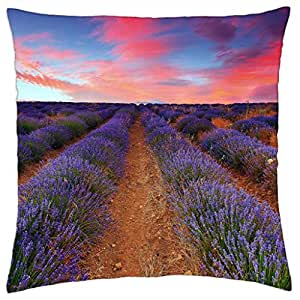 Lavender sunset - Throw Pillow Cover Case (18