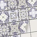 creatisto Carrelage adhesif - Stickers Salle de Bain et Cuisine I Feuille adhésive décorative Carreaux - Mosaïque carrelage Mural I Stickers carrelage (20x25 cm I 6 - Pièces)