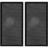 240 mm x 120 mm carcasa de ordenador filtro de polvo PC malla filtro de rejilla con marco magnético, color negro (2 unidades)