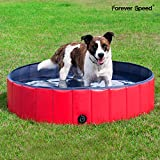 Forever Speed Hundepool Doggy Pool Swimming Pool Badewanne Pool Planschbecken für Hunde (120×30CM,...