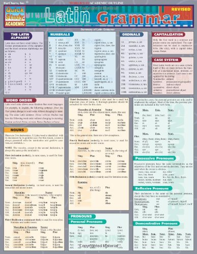 Latin Grammar: Reference Guide (Quickstudy: Academic)