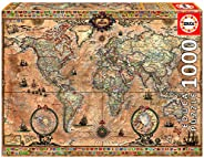 Educa Puzzle Antique World Map, 1000 Bitar