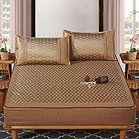 Matratzenauflagen Verdicken Sie Eis-Mat-Rattansitz-dreiteiliges doppeltes zusammenklappbares bequemes und breathable glattes und glattes 2 Farben 1.5 M (5 ft) 1.8 M (6 Ft) Schlafentisch-Schlafzimmer-Sofa ( größe : 1.5 m (5 ft) ) preisvergleich bei kinderzimmerdekopreise.eu