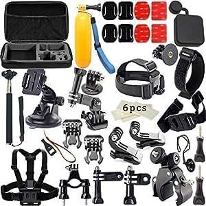 33-en-1 Sports de plein air Kit d'accessoires pour GoPro Hero 4 Silver Black Hero 4 3+ 3 2 1