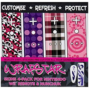 Wii – Loaded 4-Pack Graphic Skin für Nunchuk und Remote [UK Import]