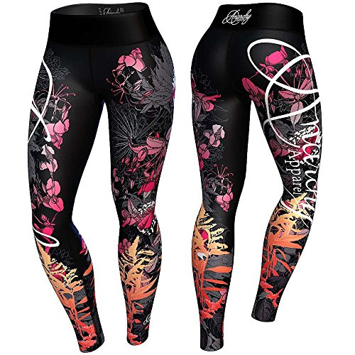anarchy-apparels-leggings-floral-fitness-hosen-gym-pants-training-gre-s