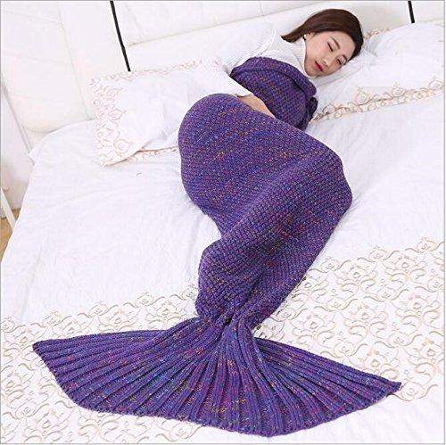 Coperta di lana coperta maschile maglia coperta coda di sirena,J,140