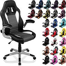 """RACEMASTER® """"GT Series"""" - Silla de escritorio/Gaming silla de despacho - Mecanismo de inclinación y elevación Homolación SGS - Disponible en 20 colores silla de oficina negro/gris/blanco"""