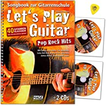 Lets Play Guitar Pop Rock Hits - Libro de canciones para guitarra (40 músicos clásicos
