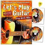 Let's Play Guitar Pop Rock Hits - Libro de canciones para guitarra (40 músicos clásicos sin conocimientos, con 2 CD)