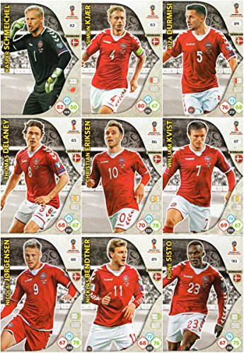 Adrenalyn XL Coupe du monde de football 2018Full 9carte Danemark Ensemble de l'équipe