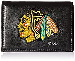 NHL Chicago Blackhawks Embroidered Genuine Cowhide Leather Trifold Wallet