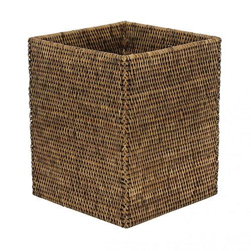 Basket Papierkorb quadratisch - Rattan braun - 25 x 25