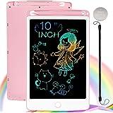 NOBES LCD Schreibtafel Maltafel Zaubertafel, 10 Zoll Bunte Writing Tablet Zaubermaltafel Malbrett Stift Papierlos für Kinder