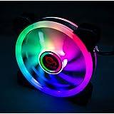 TALIUS Iris Spectrum RGB - Ventilador 12 cm (disponible en dos colores) (Black)