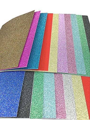 10-x-15cm-self-adhesive-gemstone-metallic-glitter-sign-sticker-art-sheets-20-sheets-mixed-colors-by-
