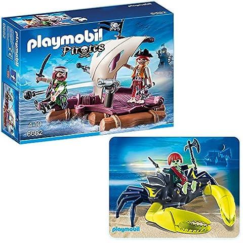 PLAYMOBIL® Piraten 2er Set 6682 4804 Piratenfloß + Riesenkrebs