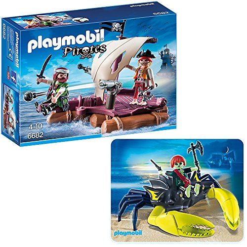 PLAYMOBIL® Piraten 2er Set 6682 4804 Piratenfloß + Riesenkrebs