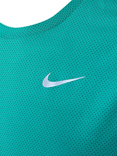 Nike Herren Dri-Fit Contour Ls Kurzarm-Laufshirt RIO TEAL/MIDNIGHT TURQ/REFLECT