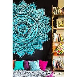 Tapiz de pared de mandalas (azul)