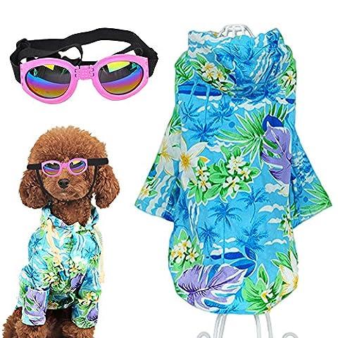 D'été pour animal domestique Chiens Vêtements de plage Floral T-shirt hawaïen Chemise pour chien