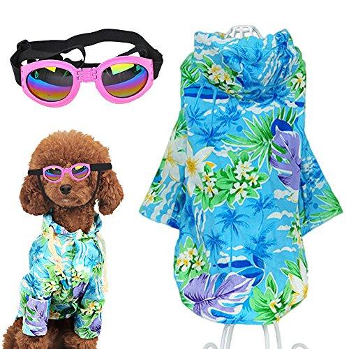 idung Beach Floral T-Shirt Hawaii-Hemd für Hunde, (Hund Hawaiian Shirt)